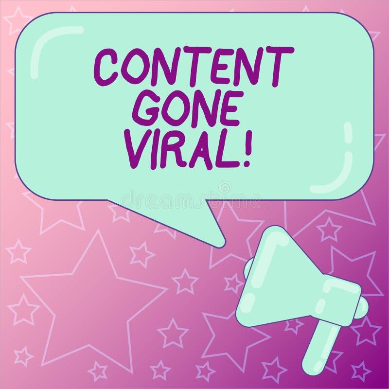 Handschriftstext, der den Inhalt Viren gegangen schreibt Konzeptbedeutungs-Bild-Videoverbindung, die schnell durch Bevölkerung ve stock abbildung
