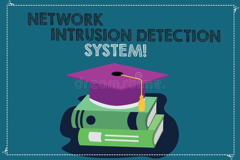 Handschriftstext, der Netz-Eindringen-Erfassungssystem schreibt Konzept, das Sicherheitssicherheits-Multimediasysteme Farbe bedeu lizenzfreie abbildung