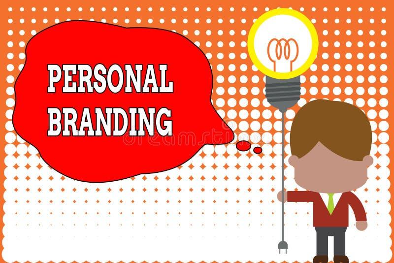 Handschriftstext, der pers?nliches Branding schreibt Konzeptbedeutung Praxis von den Leuten, die Bild als Marken sich vermarkten vektor abbildung