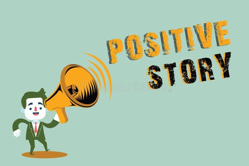 Handschriftstext, der positive Geschichte schreibt Konzeptbedeutung bedeutungsvoll und Motivierungsartikel gute Nachrichten-Erfol stock abbildung
