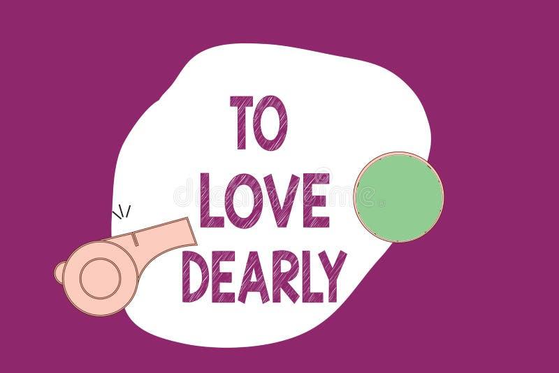 Handschriftstext, der schreibt, um lieb zu lieben Konzeptbedeutung Liebe jemand sehr viel auf die bescheidenere Art und ziellos vektor abbildung