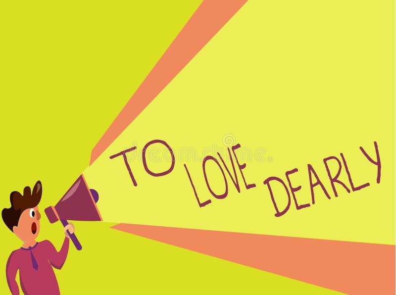Handschriftstext, der schreibt, um lieb zu lieben Konzeptbedeutung Liebe jemand sehr viel auf die bescheidenere Art und ziellos lizenzfreie abbildung