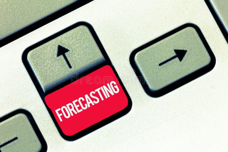 Handschriftstext, der Voraussage schreibt Konzeptbedeutung sagen voraus, dass Schätzung ein zukünftiges Ereignis oder eine Tenden lizenzfreie stockfotografie
