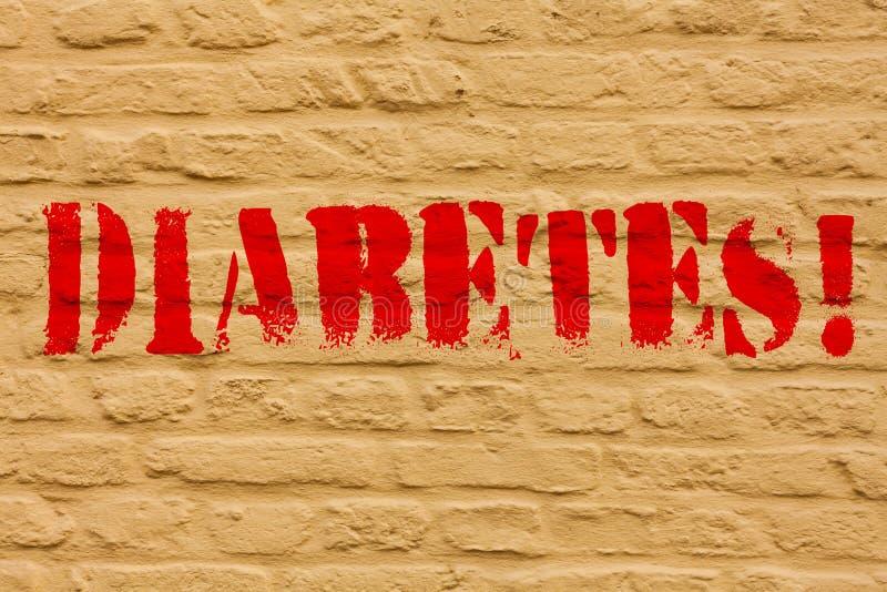 Handschriftstext Diabetes E stock abbildung