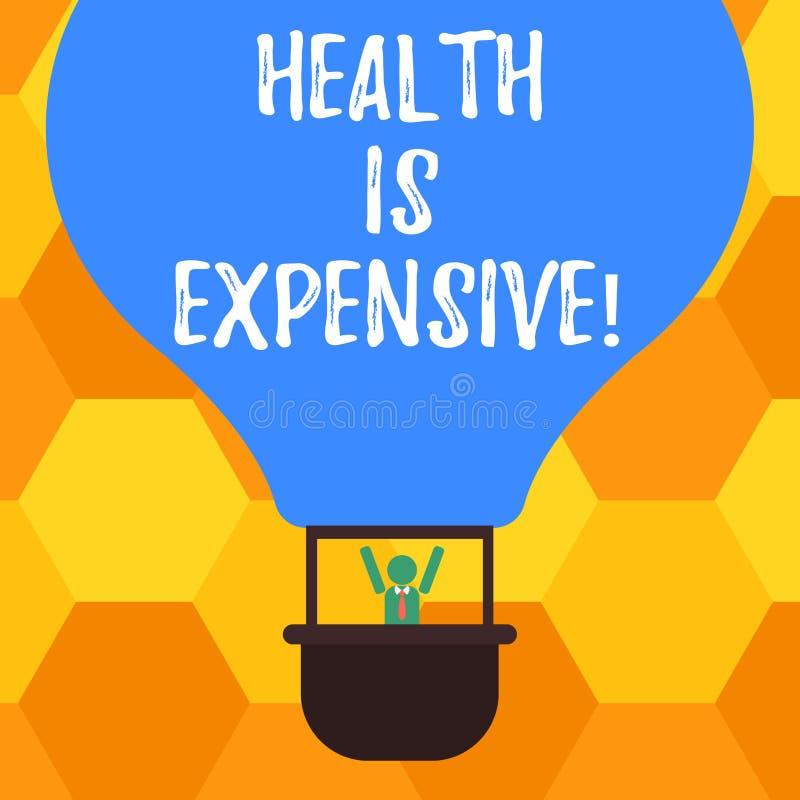 Handschriftstext Gesundheit ist teuer Das Konzept, das mach's- gutKörper bedeutet, essen gesunden Spielsport, Verletzung HU-Analy stock abbildung