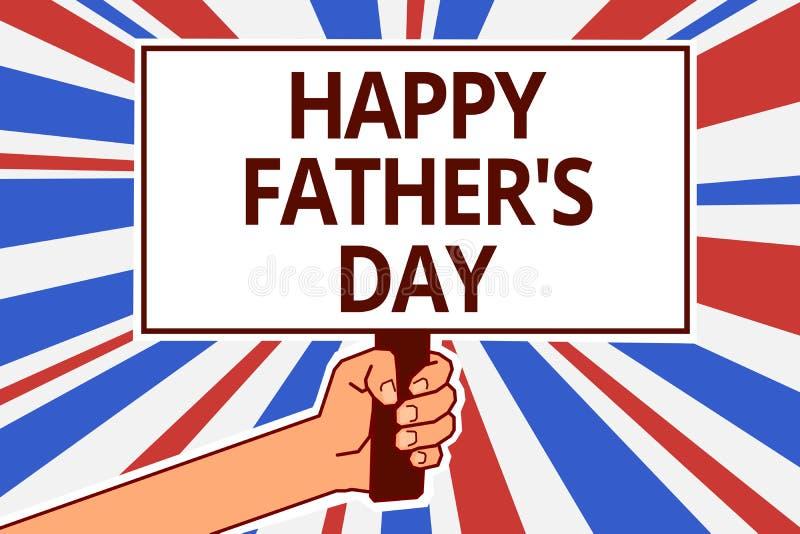 Handschriftstext glücklicher Vater s ist Tag Konzeptbedeutungsjahreszeit, Väter zu feiern tapezieren auf der ganzen Erde Textkapi vektor abbildung
