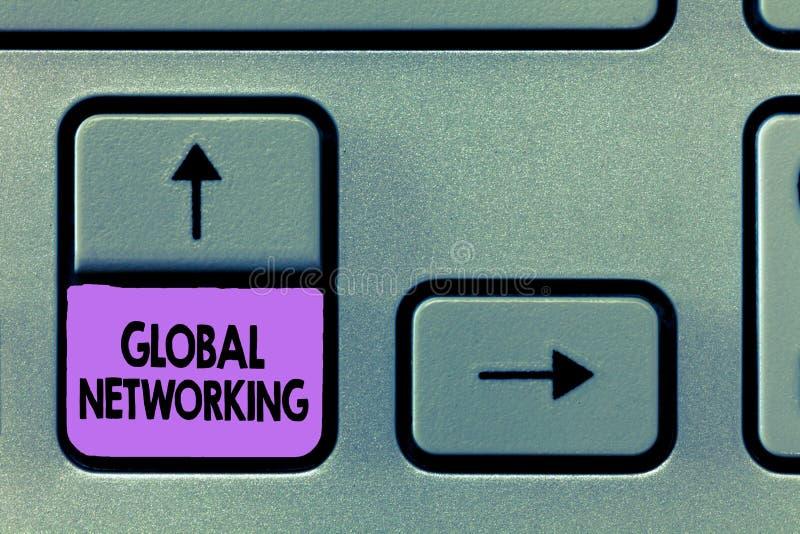 Handschriftstext globale Vernetzung Konzeptbedeutung Kommunikationsnetz, das die gesamte Erde WAN überspannt stockfotografie