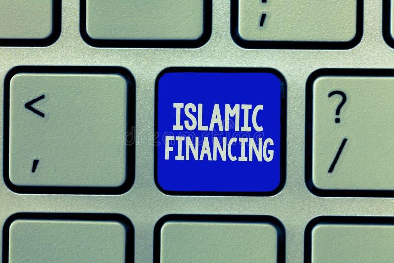 Handschriftstext islamische Finanzierung Konzeptbedeutung Bankwesentätigkeit und -investition, die mit sharia übereinstimmt stockfoto