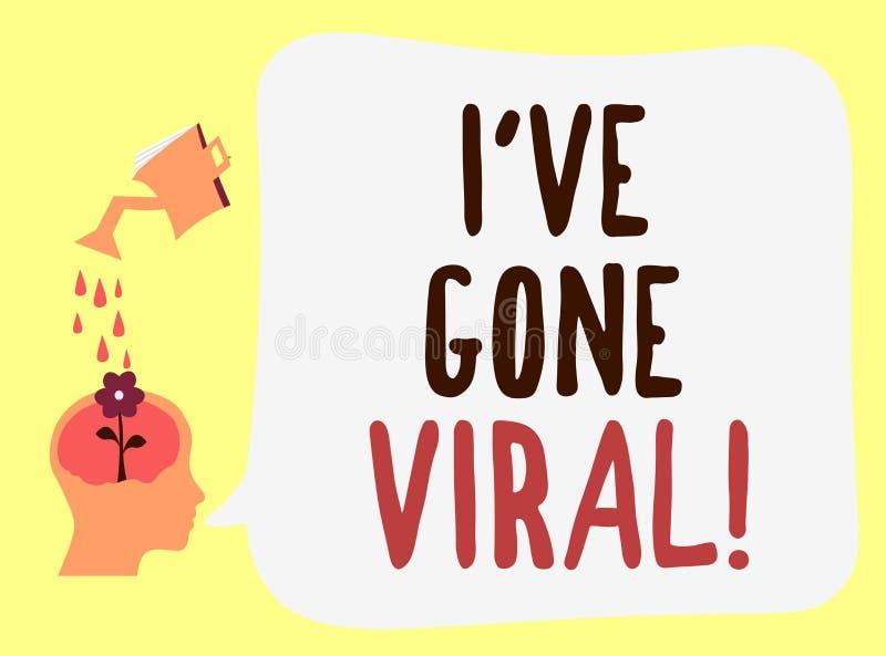Handschriftstext Ive sind Viren gegangen Konzeptbedeutungsmedizinischer begriff verwendet, um kleinen Infektionserreger zu beschr stock abbildung