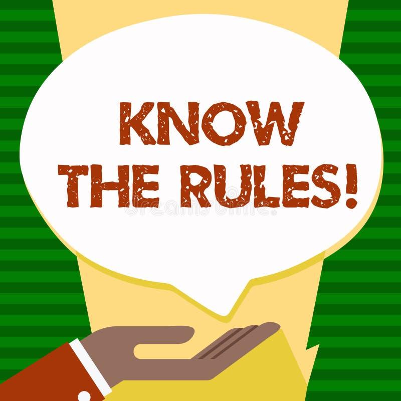 Handschriftstext kennen die Regeln Konzeptbedeutung berücksichtigt die Gesetzesregelungs-Protokoll-Verfahren  lizenzfreie abbildung