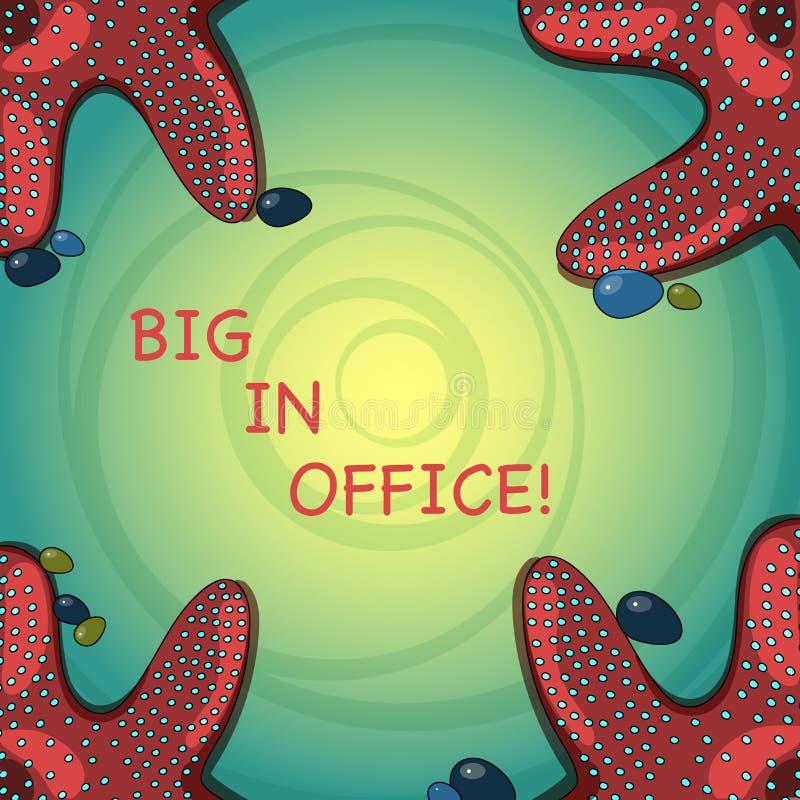 Handschriftstext Leute im Büro Konzept, das Raum oder Teil Gebäude bedeutet, in dem sie das Sitzen an Schreibtische Starfish bear stock abbildung