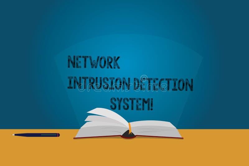 Handschriftstext Netz-Eindringen-Erfassungssystem Das Konzept, das Sicherheitssicherheits-Multimediasysteme bedeutet, färben Seit lizenzfreie abbildung
