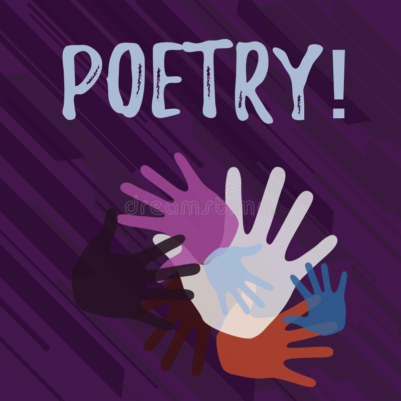 Handschriftstext Poesie Ausdruck literarische Arbeit der Konzeptbedeutung von Gef?hlsideen mit der Rhythmus Gedichtschreiben Farb lizenzfreie abbildung