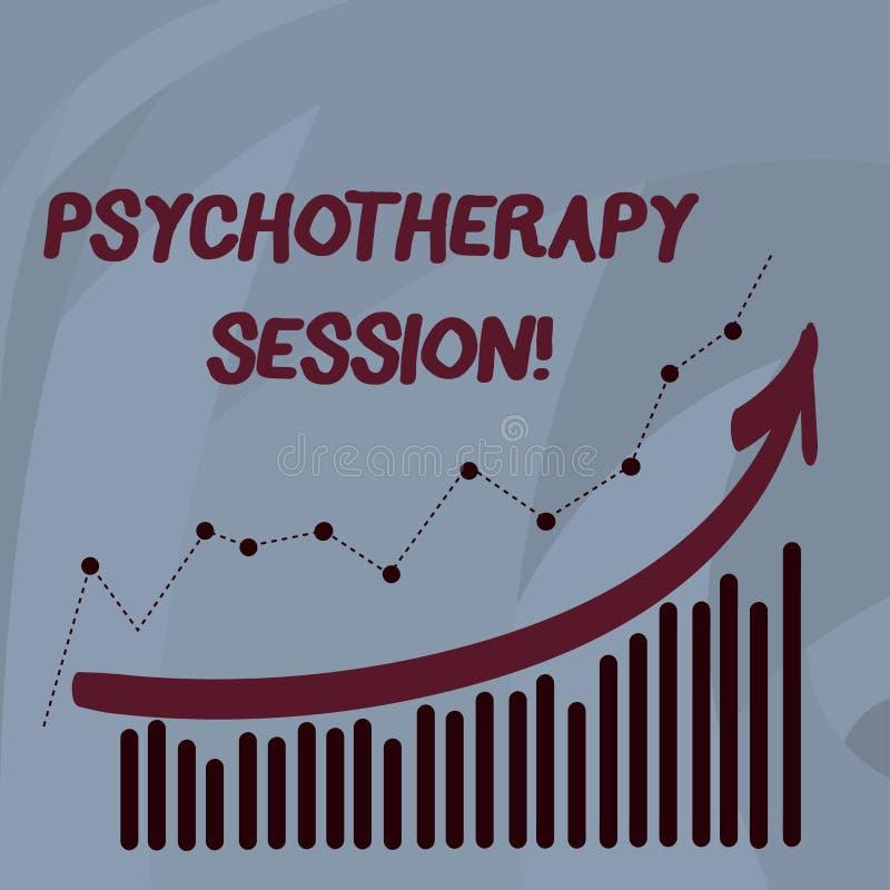 Handschriftstext Psychotherapie-Sitzung Konzept, das Behandlungen bedeutet, die bei der Kombination der psychischen Probleme helf lizenzfreie abbildung