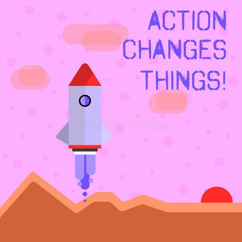 Handschriftstext-Schreiben Aktion ändert Sachen Konzeptbedeutung verbessern sich stehen nicht noch ließ s ist, es zu tun stock abbildung
