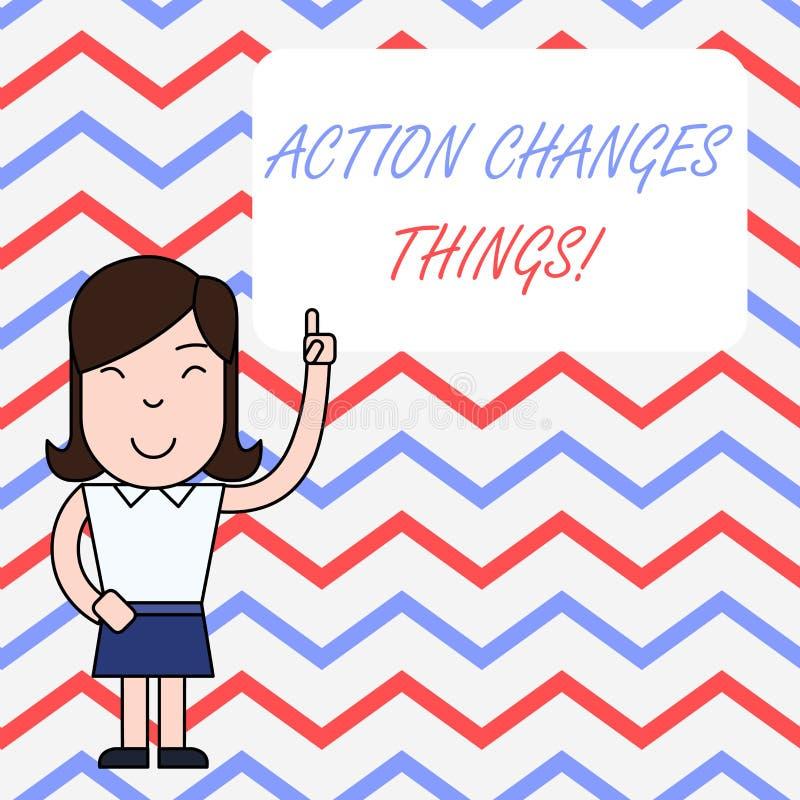 Handschriftstext-Schreiben Aktion ?ndert Sachen Konzeptbedeutungsanfang, der etwas gegen Problem zu l?sen tut oder zu erzielen vektor abbildung