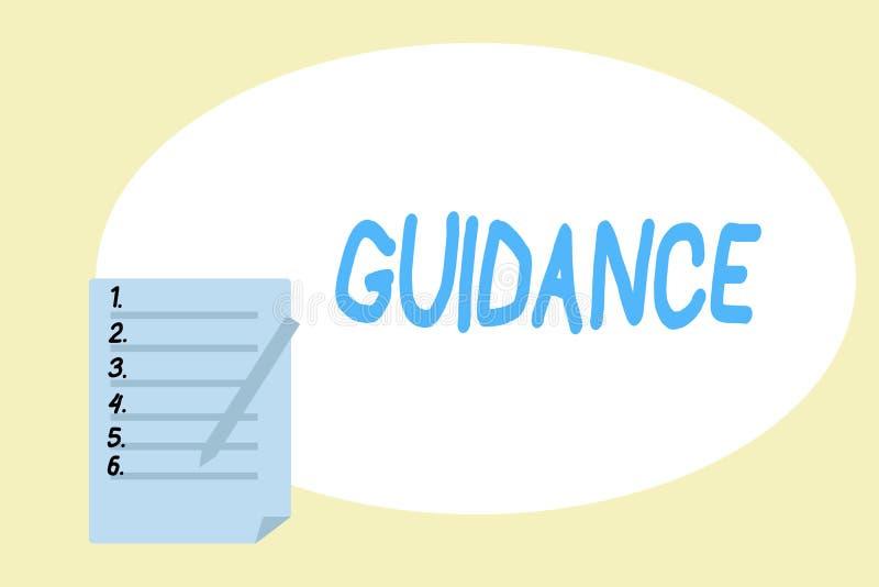 Handschriftstext-Schreiben Anleitung Konzeptbedeutungsrat oder -informationen strebten an, Problem oder Schwierigkeit zu lösen lizenzfreie abbildung