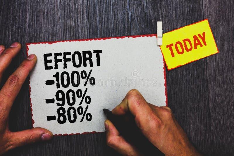 Handschriftstext-Schreiben Bemühung 100 90 80 Konzeptbedeutung Niveau von Bestimmungsdisziplinmotivation Handgriffschwarz-Markier stockbilder