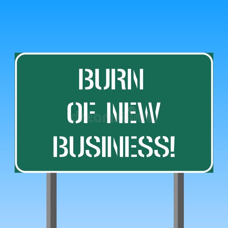 Handschriftstext-Schreiben Brand des neuen Geschäfts Konzeptbedeutung Menge Monatsbargeld die Firma gibt freien Raum aus vektor abbildung