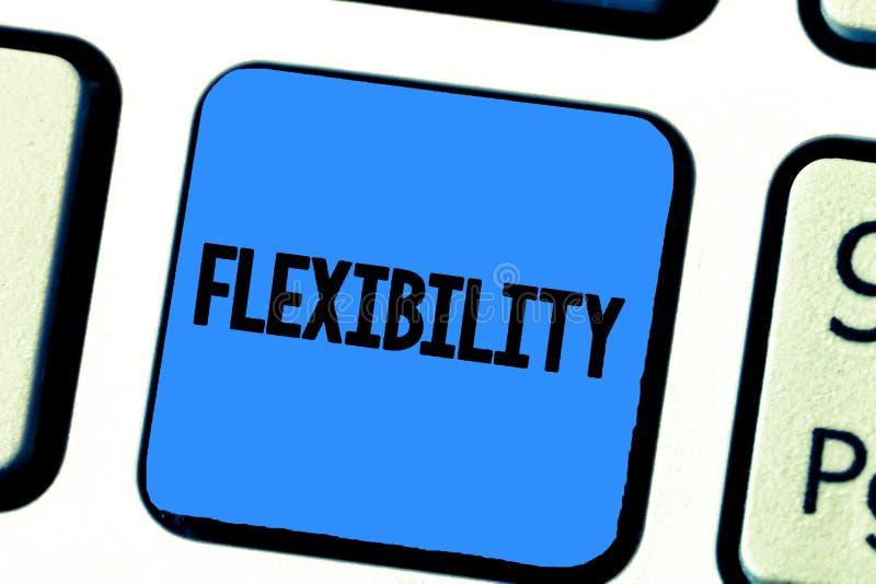 Handschriftstext-Schreiben Flexibilität Konzeptbedeutung Qualität des Verbiegens leicht geändert, ohne das Ausdehnen zu brechen stockbild