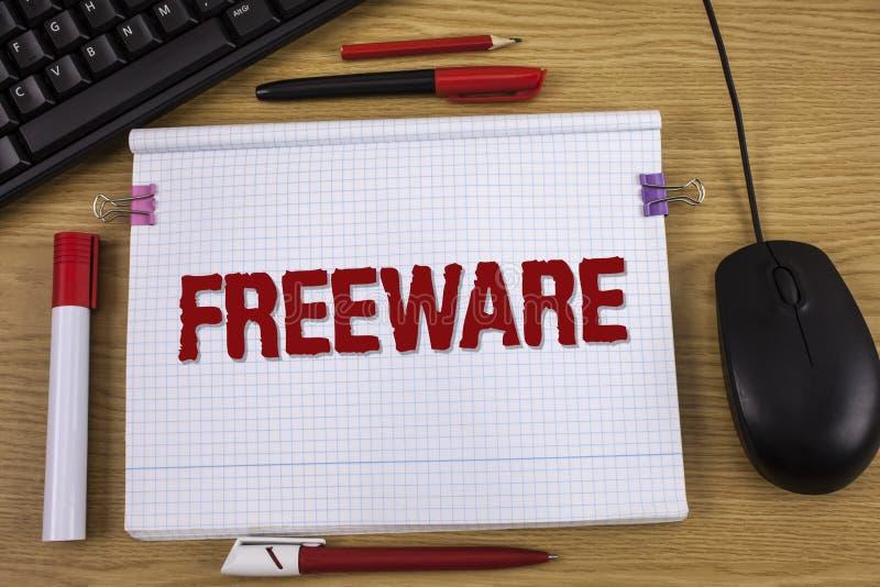 Handschriftstext-Schreiben Freeware Konzeptbedeutung Software-Anwendung, die für Gebrauch an keinem Währungskosten Konzept für ve stockbilder