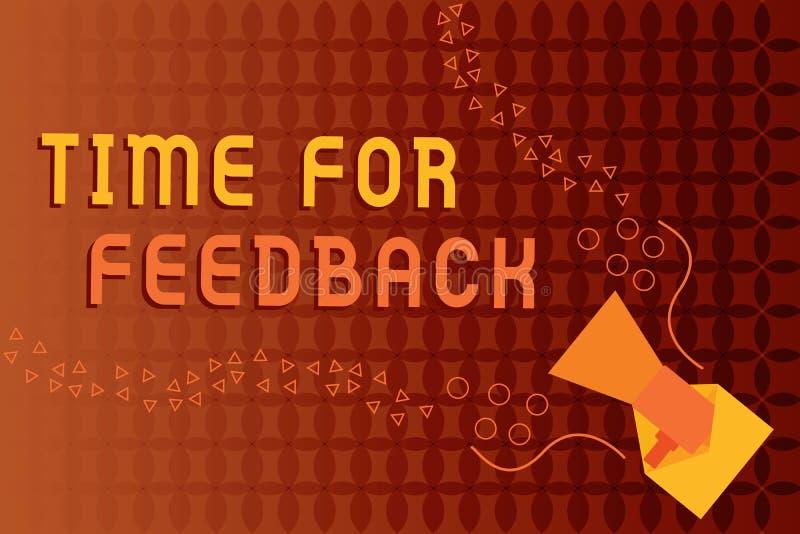 Handschriftstext-Schreiben Zeit für Feedback Konzeptbedeutung BedarfsAntwort oder geben Kritiker auf etwas Bewertung vektor abbildung