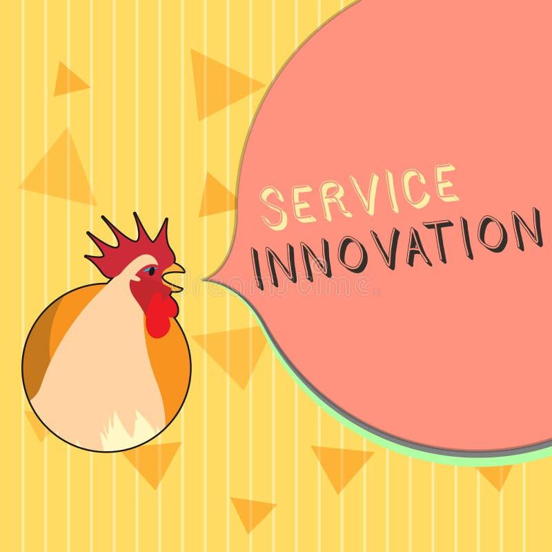 Handschriftstext Service-Innovation Konzept-stellen Bedeutung verbesserte Produktserie Dienstleistungen bevorstehende Tendenz vor vektor abbildung