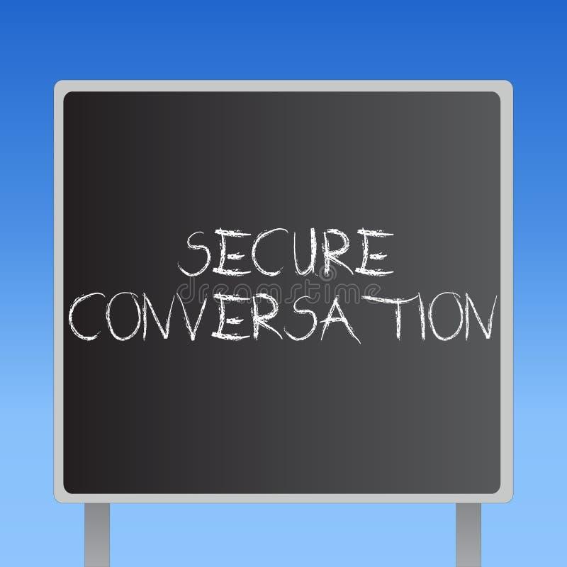 Handschriftstext sicheres Gespräch Konzept-Bedeutung gesicherte verschlüsselte Kommunikation zwischen Webservices lizenzfreie abbildung