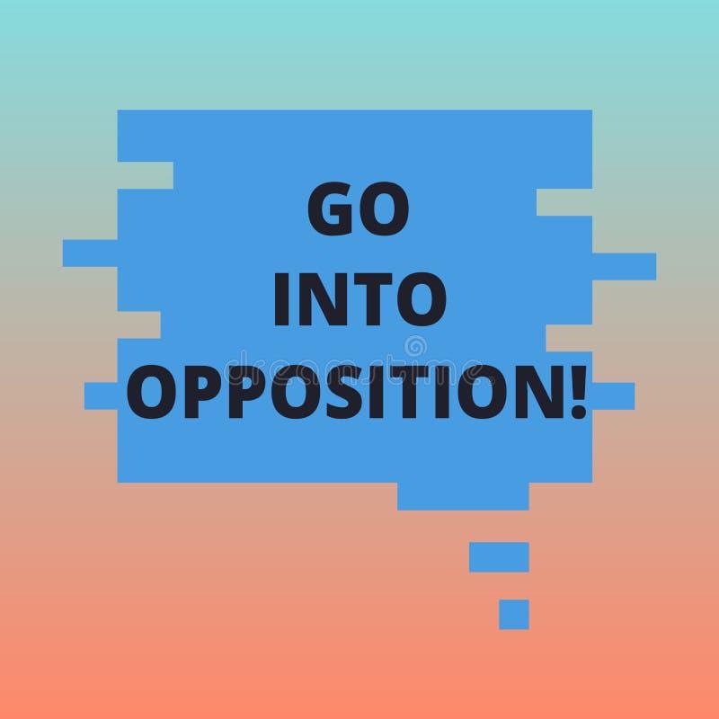 Handschriftstext steigen in Opposition ein Konzept, welches das Demonstrieren bedeuten oder Gruppe, die etwas protestierend leere lizenzfreie abbildung