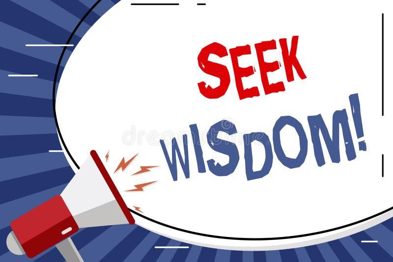 Handschriftstext Suchvorgang-Klugheit Konzeptbedeutungs-Denkfähigkeitstat unter Verwendung Wissenserfahrung Verständnisfreien rau lizenzfreie abbildung