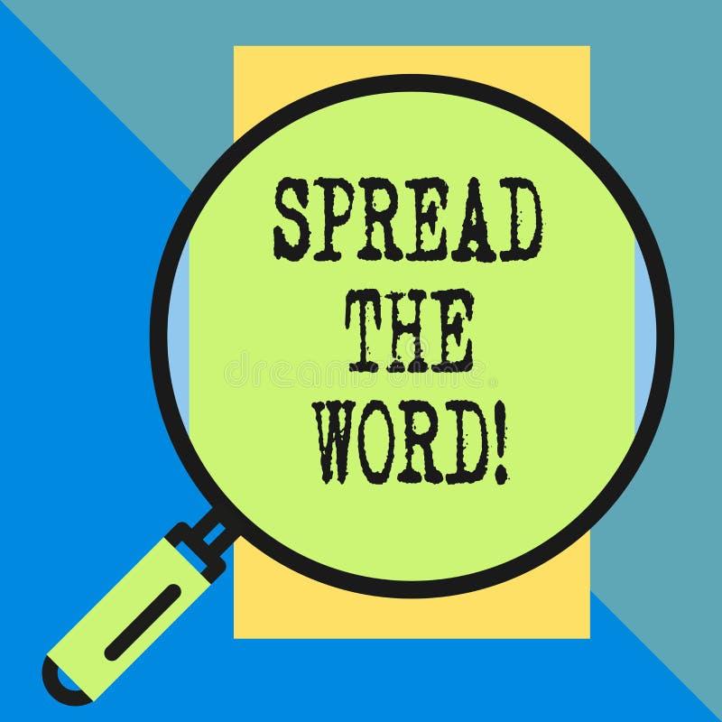 Handschriftstext verbreitete das Wort Konzeptbedeutungsanteil die Informationen oder die Nachrichten unter Verwendung des Social  lizenzfreie abbildung