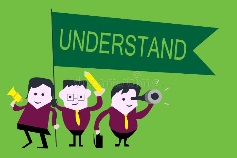Handschriftstext verstehen Konzeptbedeutung empfinden die beabsichtigte Bedeutung von etwas interpretieren Ansicht vektor abbildung