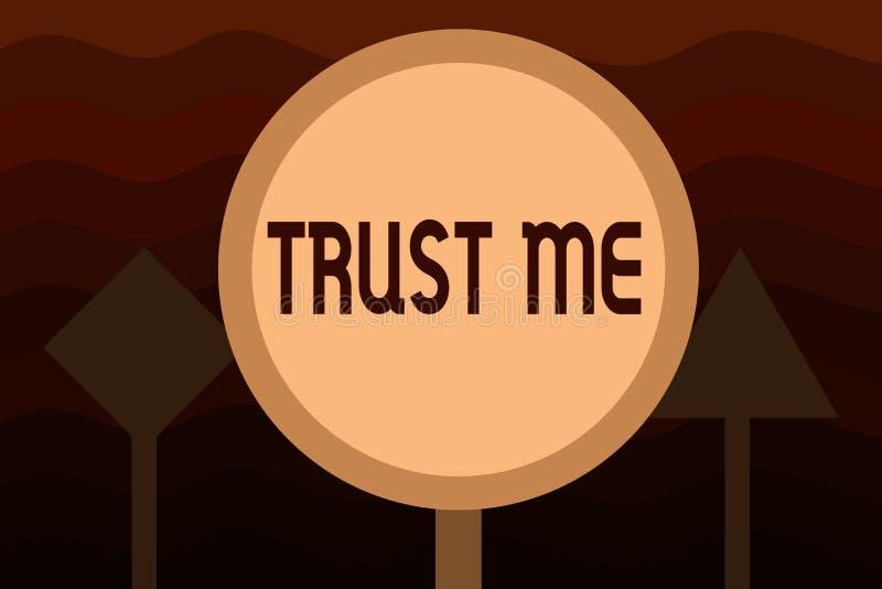 Handschriftstext vertrauen mir Das Konzept, das Believe bedeutet, haben Glauben in anderer zeigender Angebotstützunterstützung lizenzfreie abbildung