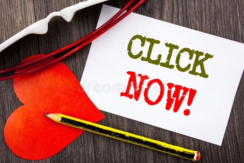Handschriftstext-Vertretung Klicken jetzt Geschäftskonzept für Zeichen-Buch-oder Register-Fahne für Join Apply geschrieben auf kl stockfotos