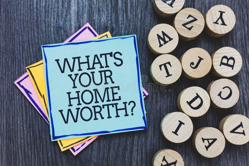 Handschriftstext, welches s wert Frage Ihr Haupt ist KonzeptMittelwert einer hölzernen Plattform w Grundbesitz-Selbstkostenpreis- lizenzfreie stockfotos