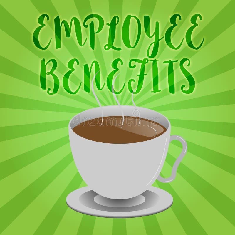 Handschriftstextschreiben Angestellter Nutzen Die indirekte Konzeptbedeutung und der Noncashausgleich zahlten einem Angestellten lizenzfreie abbildung