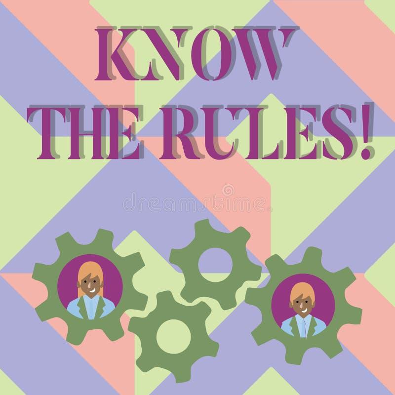 Handschriftstextschreiben kennen die Regeln Konzeptbedeutung berücksichtigt die Gesetzesregelungs-Protokoll-Verfahren  vektor abbildung