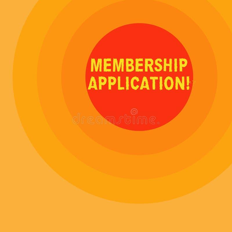 Handschriftstextschreiben Mitgliedschafts-Anwendung Konzeptbedeutung Ausrichtung, zum sich einer Teamgruppe oder -organisation an vektor abbildung