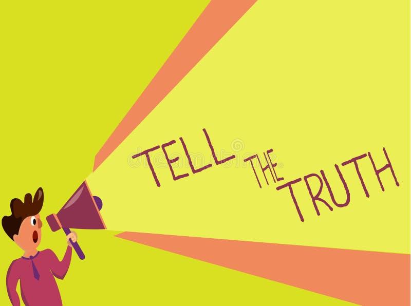 Handschriftstextschreiben sagen die Wahrheit Konzeptbedeutung bekennen irgendeine persönliche Tatsache, die jemand hält versteckt lizenzfreie abbildung