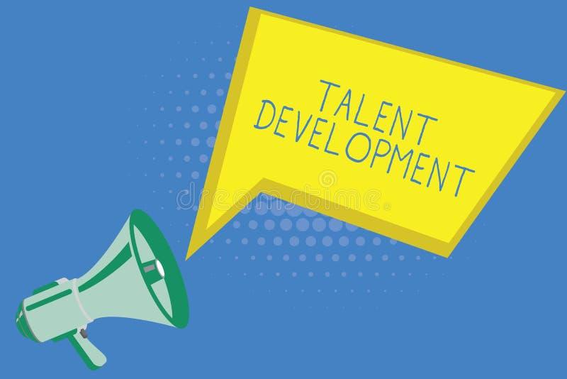 Handschriftstextschreiben Talent-Entwicklung Konzeptbedeutung Gebäude-Fähigkeits-Fähigkeiten, die möglichen Führer verbessern lizenzfreie abbildung