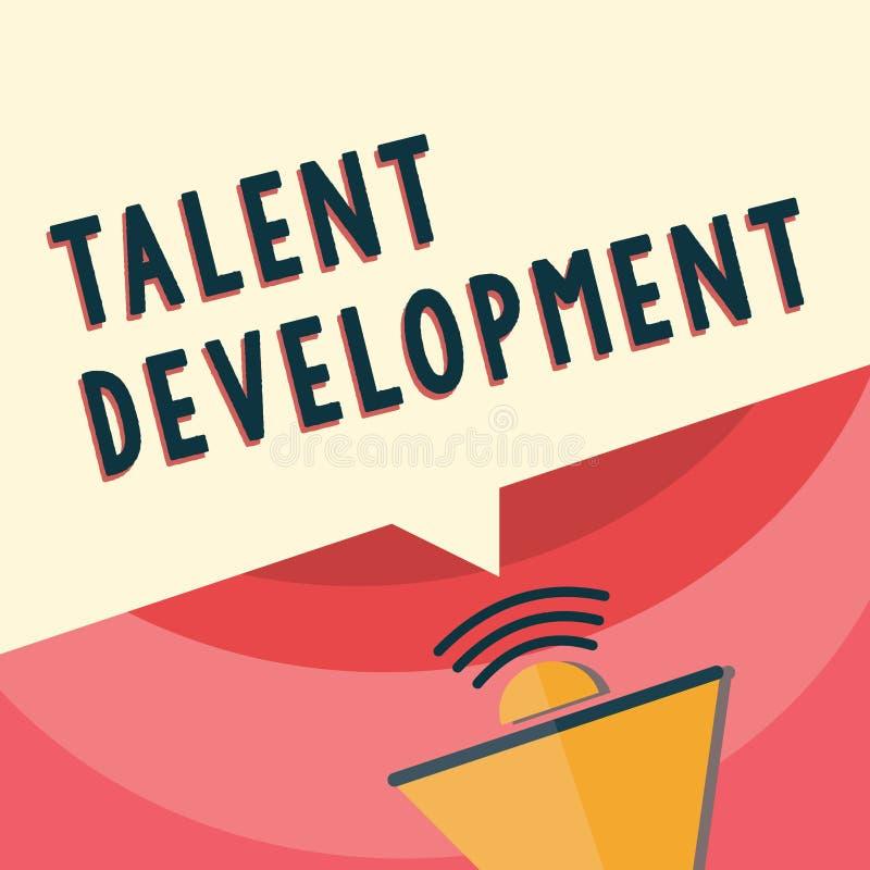 Handschriftstextschreiben Talent-Entwicklung Konzeptbedeutung Gebäude-Fähigkeits-Fähigkeiten, die möglichen Führer verbessern stock abbildung