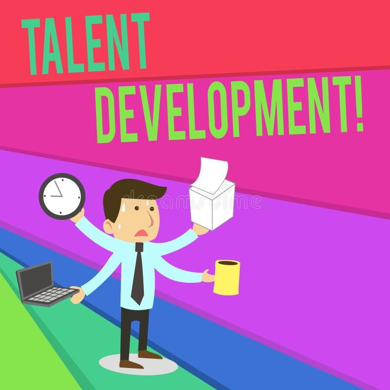 Handschriftstextschreiben Talent-Entwicklung Konzeptbedeutung Geb?ude-F?higkeits-F?higkeiten, die m?glichen F?hrer verbessern lizenzfreie abbildung