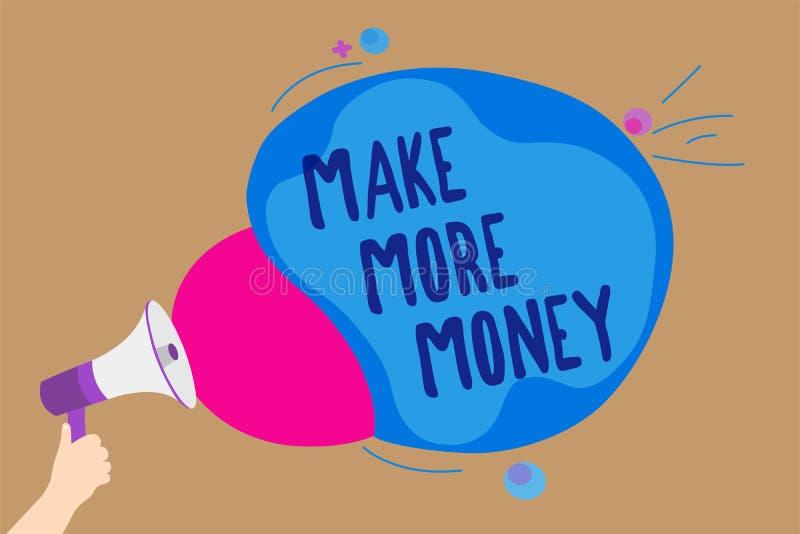 Handschriftstextschreiben verdienen mehr Geld Konzeptbedeutung Zunahme Ihr Einkommensgehaltsnutzen bearbeiten den härteren Ehrgei vektor abbildung