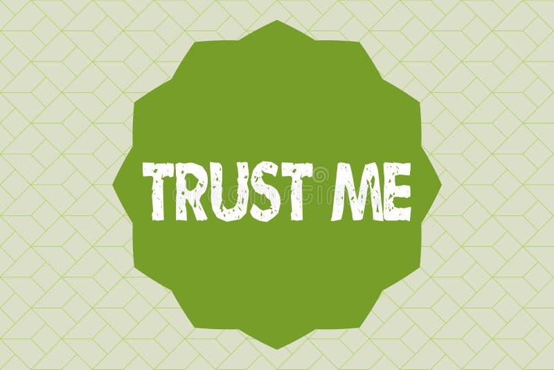Handschriftstextschreiben vertrauen mir Das Konzept, das Believe bedeutet, haben Glauben in anderer zeigender Angebotstützunterst vektor abbildung