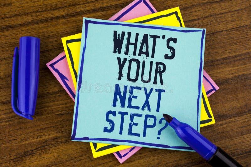 Handschriftstextschreiben, was Ihre Frage des nächsten Schritts ist Das Konzept, das Analyse bedeutet, fragen sich, bevor es die  stockbilder