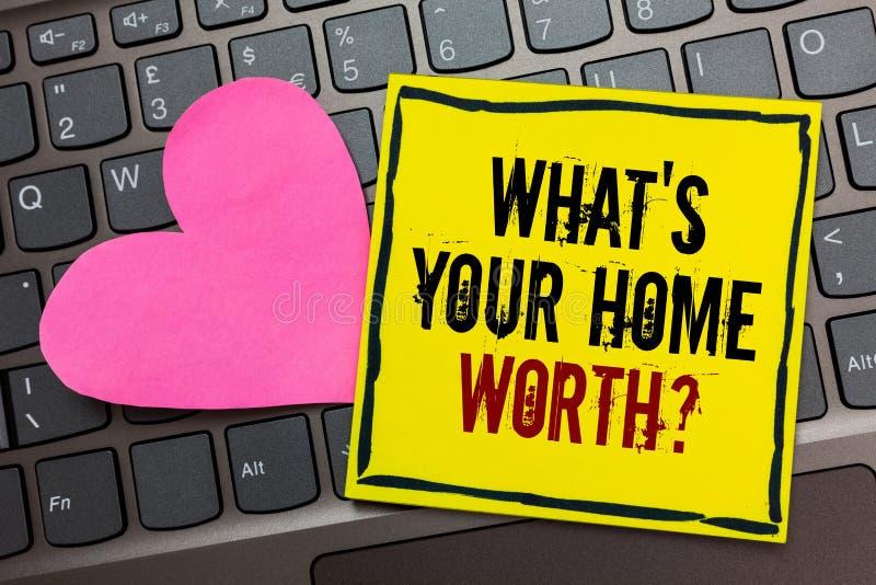 Handschriftstextschreiben, welches s wert Frage Ihr Haupt ist KonzeptMittelwert eines Grundbesitz-Selbstkostenpreises Rate Writte lizenzfreie stockfotografie