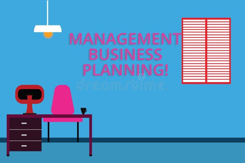 Handschriftstextverwaltung Unternehmensplanung Konzeptbedeutung, die auf Schritte sich konzentriert, um Geschäft Work Space folge vektor abbildung