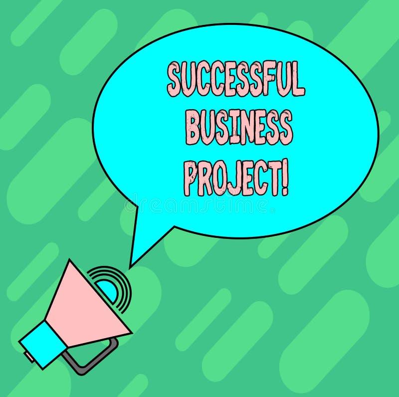 Handschrifttekst die Succesvol Zakelijk project schrijven Concept die Bereikend projectdoelen binnen programmaspatie betekenen royalty-vrije illustratie