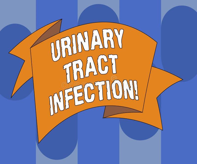 Handschrifttekst die Urinelandstreekbesmetting schrijven Concept die een besmetting in om het even welk deel van het urine Gevouw vector illustratie