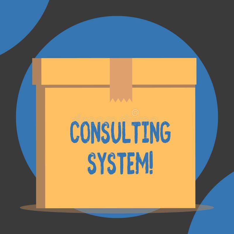 Handschrifttekst het Raadplegen Systeem Concept die Helpend firma's procesgeschiktheid en functionaliteit dicht omhoog verbeteren stock illustratie